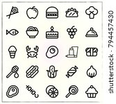 food line icons set onion and... | Shutterstock .eps vector #794457430
