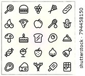 food line icons set ice and...   Shutterstock .eps vector #794458150