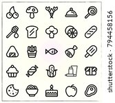 food line icons set noodles and ... | Shutterstock .eps vector #794458156