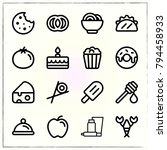 food line icons set honey and... | Shutterstock .eps vector #794458933