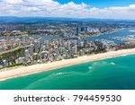 sunny aerial view of main beach ... | Shutterstock . vector #794459530