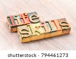 life skills   word abstract in... | Shutterstock . vector #794461273
