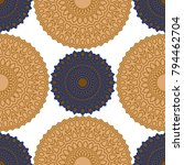 vintage wallpaper rapport.... | Shutterstock .eps vector #794462704