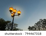 the street lanterns or the...   Shutterstock . vector #794467318