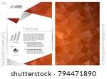light orange vector  layout for ...