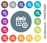 add to calendar flat white... | Shutterstock .eps vector #794476300