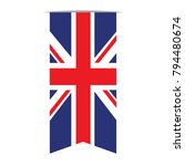 flag of the united kingdom ... | Shutterstock .eps vector #794480674