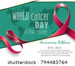 4 february world cancer... | Shutterstock .eps vector #794483764