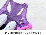 womens fashion activewear... | Shutterstock . vector #794484964