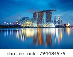 singapore city skyline at dusk  ... | Shutterstock . vector #794484979