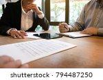 business ceo executives meeting ... | Shutterstock . vector #794487250
