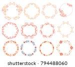 set of 12 decorative frames ... | Shutterstock .eps vector #794488060