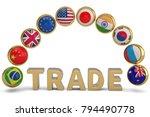 national flag balls and trade... | Shutterstock . vector #794490778