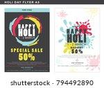 creative flyer for holi sale... | Shutterstock .eps vector #794492890