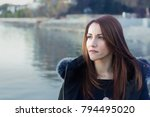 portrait of a woman  30s ... | Shutterstock . vector #794495020