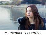 portrait of a woman  30s ... | Shutterstock . vector #794495020