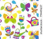 summery floral seamless pattern | Shutterstock .eps vector #79449637