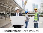 engineer manager is checking... | Shutterstock . vector #794498074