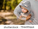 father walking in the park and...   Shutterstock . vector #794499664