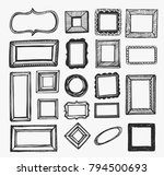 vector set with hand drawn... | Shutterstock .eps vector #794500693
