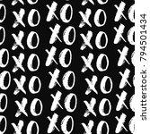 xoxo brush lettering signs... | Shutterstock .eps vector #794501434