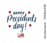 happy president's day vintage... | Shutterstock .eps vector #794501458