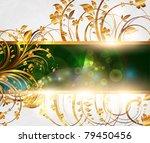summer vector golden floral... | Shutterstock .eps vector #79450456