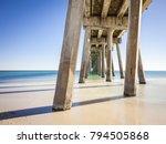 pensacola beach pier is located ... | Shutterstock . vector #794505868