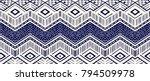 ikat geometric folklore... | Shutterstock .eps vector #794509978