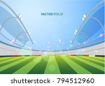sports stadium with lights  eps ... | Shutterstock .eps vector #794512960
