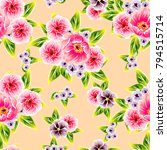 abstract elegance seamless... | Shutterstock . vector #794515714