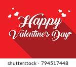 happy valentine's day hand... | Shutterstock .eps vector #794517448