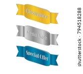 flat linear promotion golden... | Shutterstock .eps vector #794518288