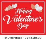happy valentine's day... | Shutterstock .eps vector #794518630