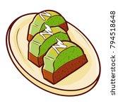"cute and yummy ""peanut pandan...   Shutterstock .eps vector #794518648"