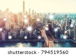 network and connection... | Shutterstock . vector #794519560
