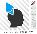 ethereum penetrated head icon... | Shutterstock .eps vector #794521876