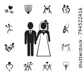 bride and groom icon. set of... | Shutterstock .eps vector #794522416
