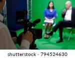 video recording of an interview ... | Shutterstock . vector #794524630