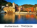 sunset light in vernazza... | Shutterstock . vector #79452616