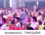 the audience watch the show in ... | Shutterstock . vector #794526304