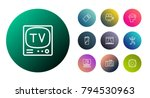 set of 10 entertainment icons... | Shutterstock .eps vector #794530963