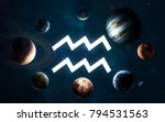 zodiac sign   aquarius. middle... | Shutterstock . vector #794531563