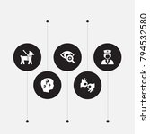 set of 5 disabled icons set.... | Shutterstock .eps vector #794532580