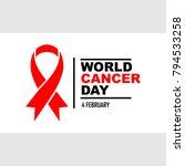 word cancer day illustration... | Shutterstock .eps vector #794533258