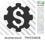 dollar options icon with 700... | Shutterstock .eps vector #794533828