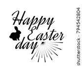 happy easter day label. font...