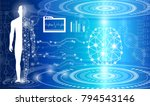 abstract background technology... | Shutterstock .eps vector #794543146