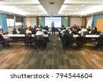 blurred shot of meeting room... | Shutterstock . vector #794544604