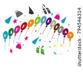 happy birthday illustration... | Shutterstock .eps vector #794546314